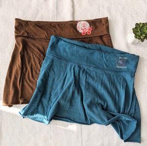 l.e.i. Short Yoga Skirt Set Medium